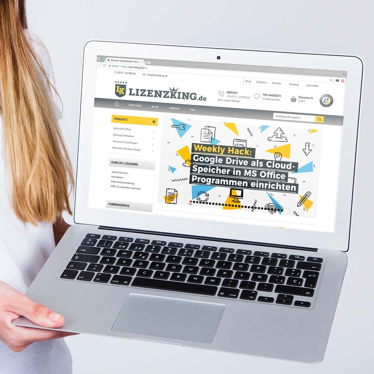 Content Guys Referenzen: Lizenzking.de